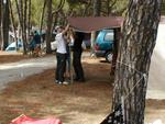 Montaggio tenda
