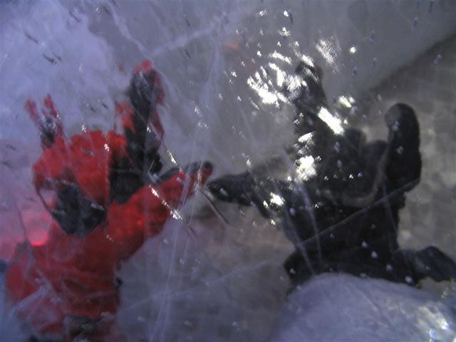 Rujo under ice
