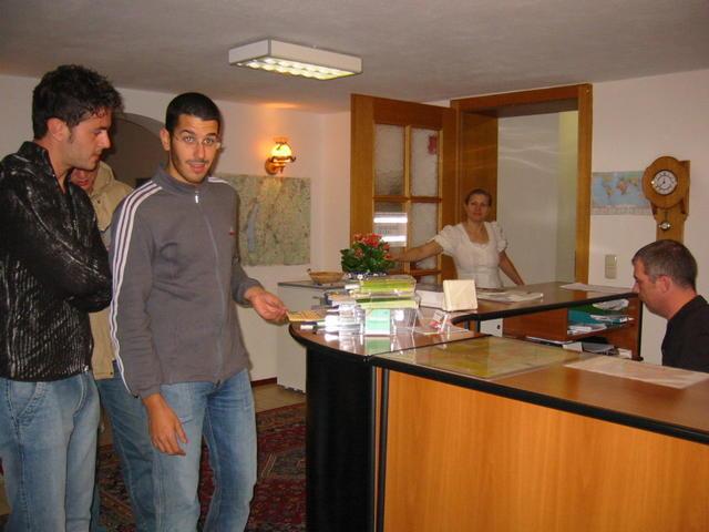 Arrivo in Hotel