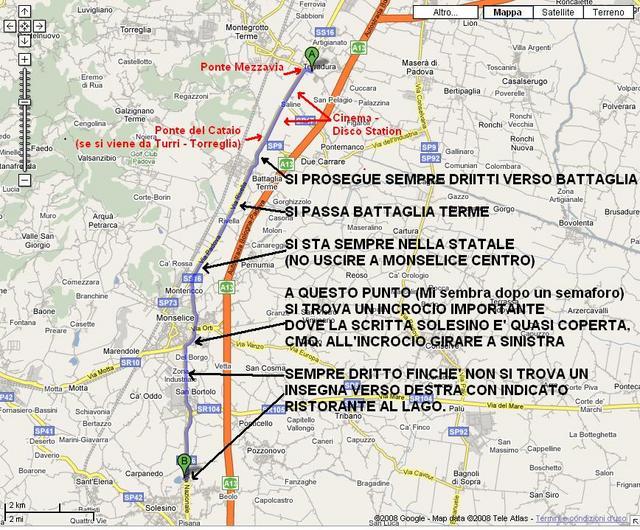 Cartina x arrivare a Solesino